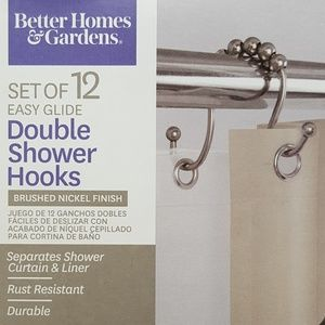 Other - 2 packs Nickel Finished Double Shower Hooks